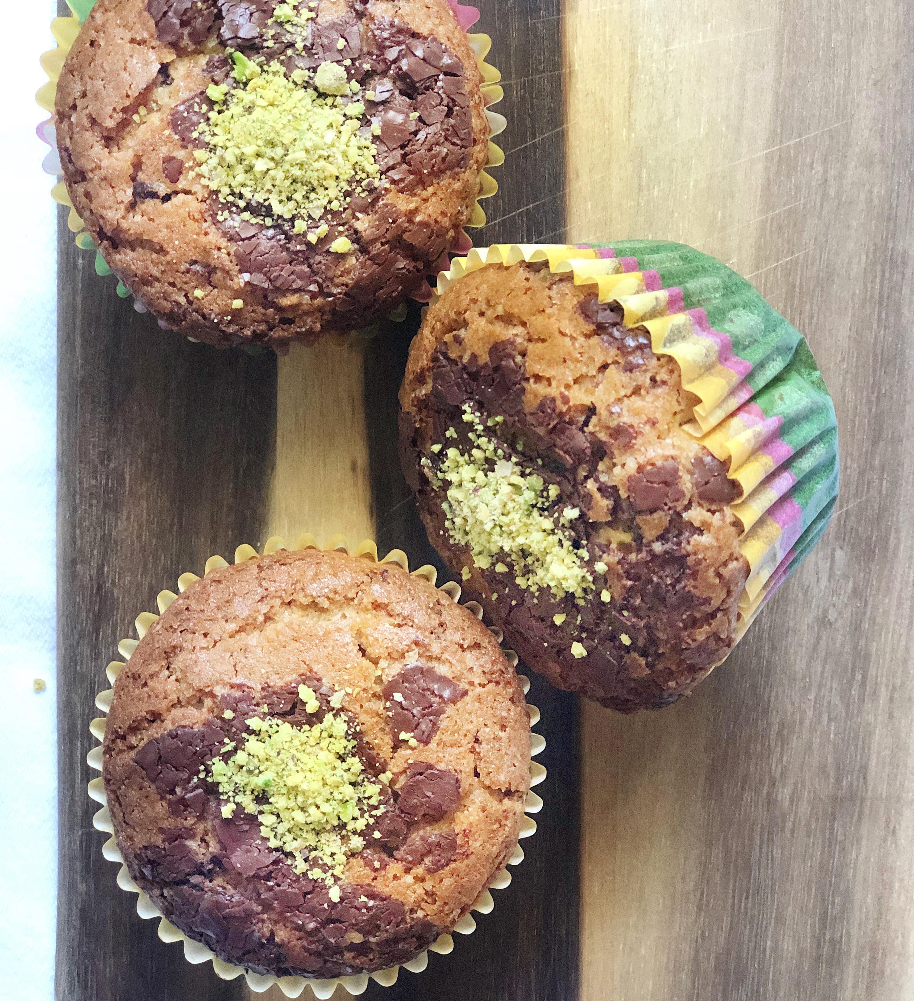 Muffin Pistacchio e Cioccolato Senza Burro e Uova, il dolce goloso di dolci senza burro