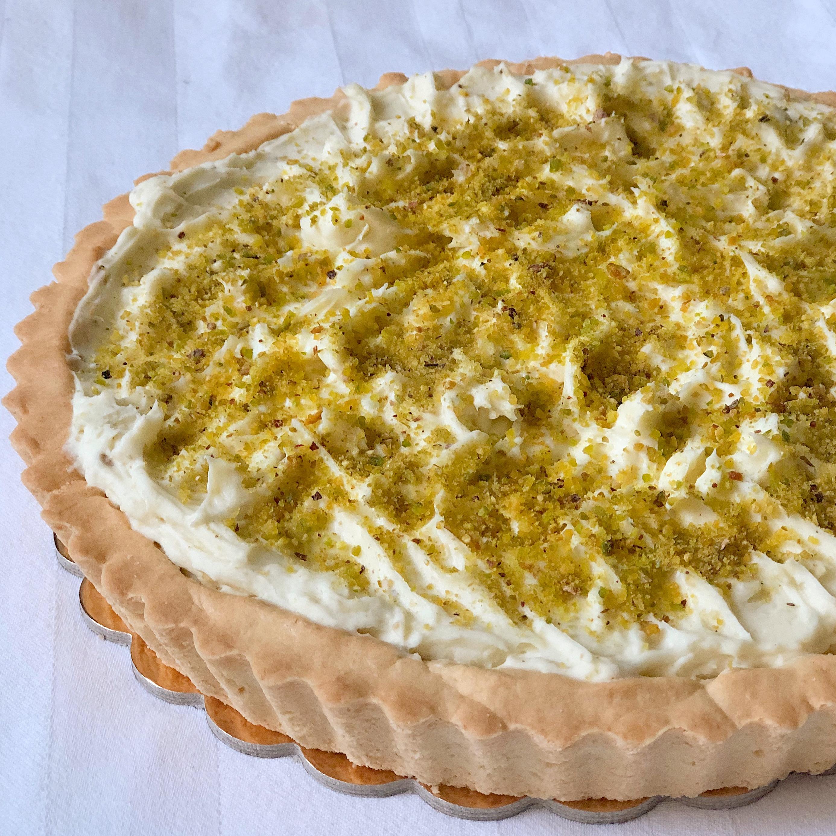 La Crostata con Namelaka al Pistacchio Senza Burro, il dolce più goloso che ci sia di dolci senza burro