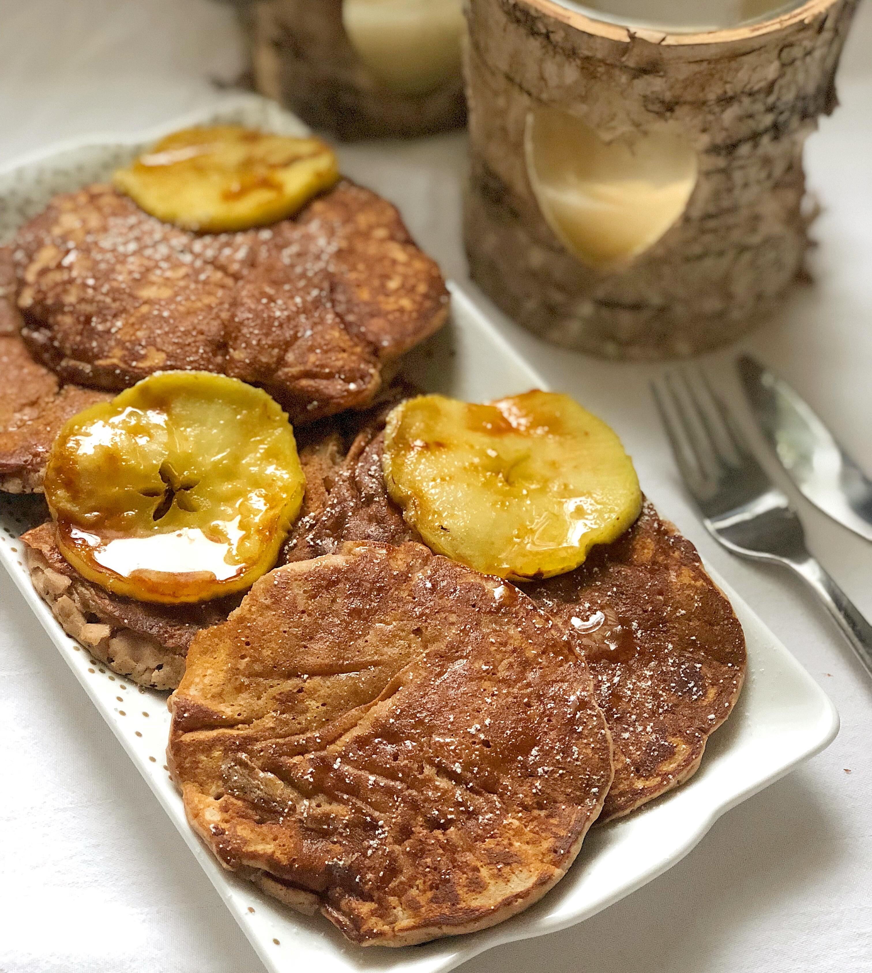 Pancake alle Castagne e Mele originali e golosi di dolci senza burro