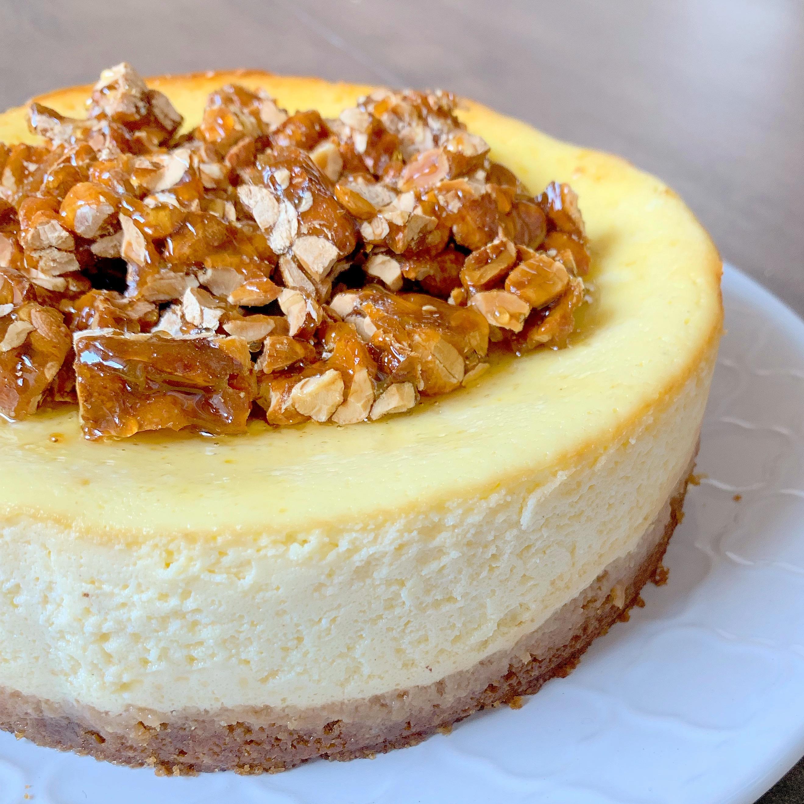 Cheesecake al Croccante e Miele Senza Burro, un dolce goloso e avvolgente di dolci senza burro