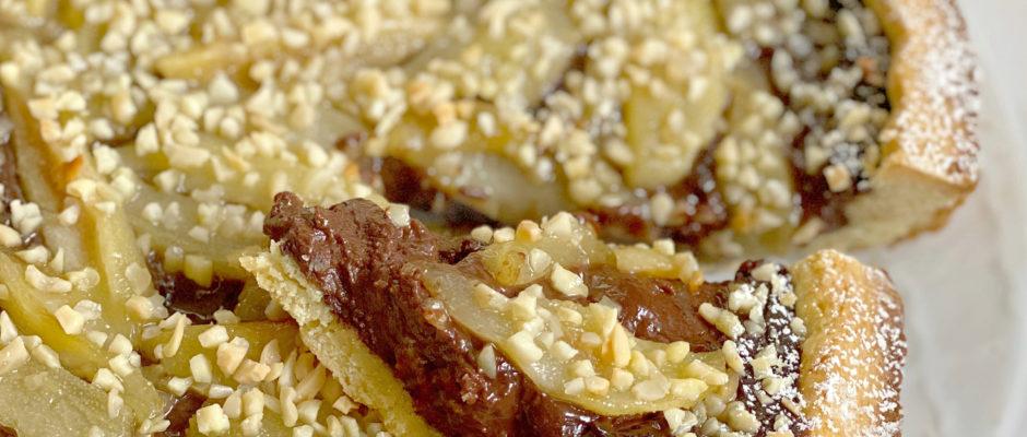 Crostata Pere e Cioccolato Senza Burro